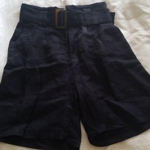 Zara navy blue high waisted shorts size S